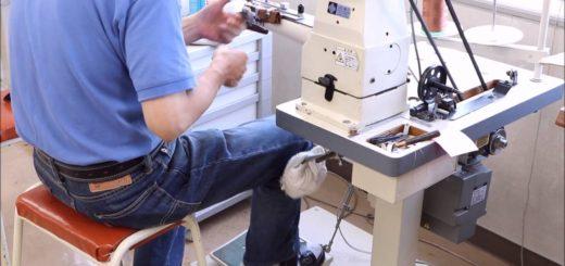【動画】ミシンを使った縫製時の足の動き